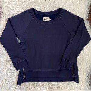 Ugg Navy Morgan Side Zip Pullover Sweater